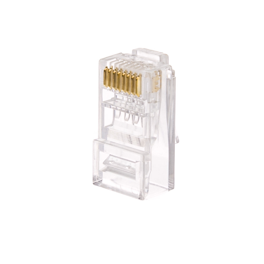 Cat6 Rj45 Crimp Connectors Solid Stranded Cable 100 Piece Wiring Diagram For And 8p8c Pieces Part