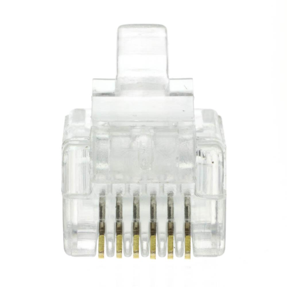 monoprice rj12 wiring diagram rj12, 6p4c, modular plug for flat wire, bag of 50 #8