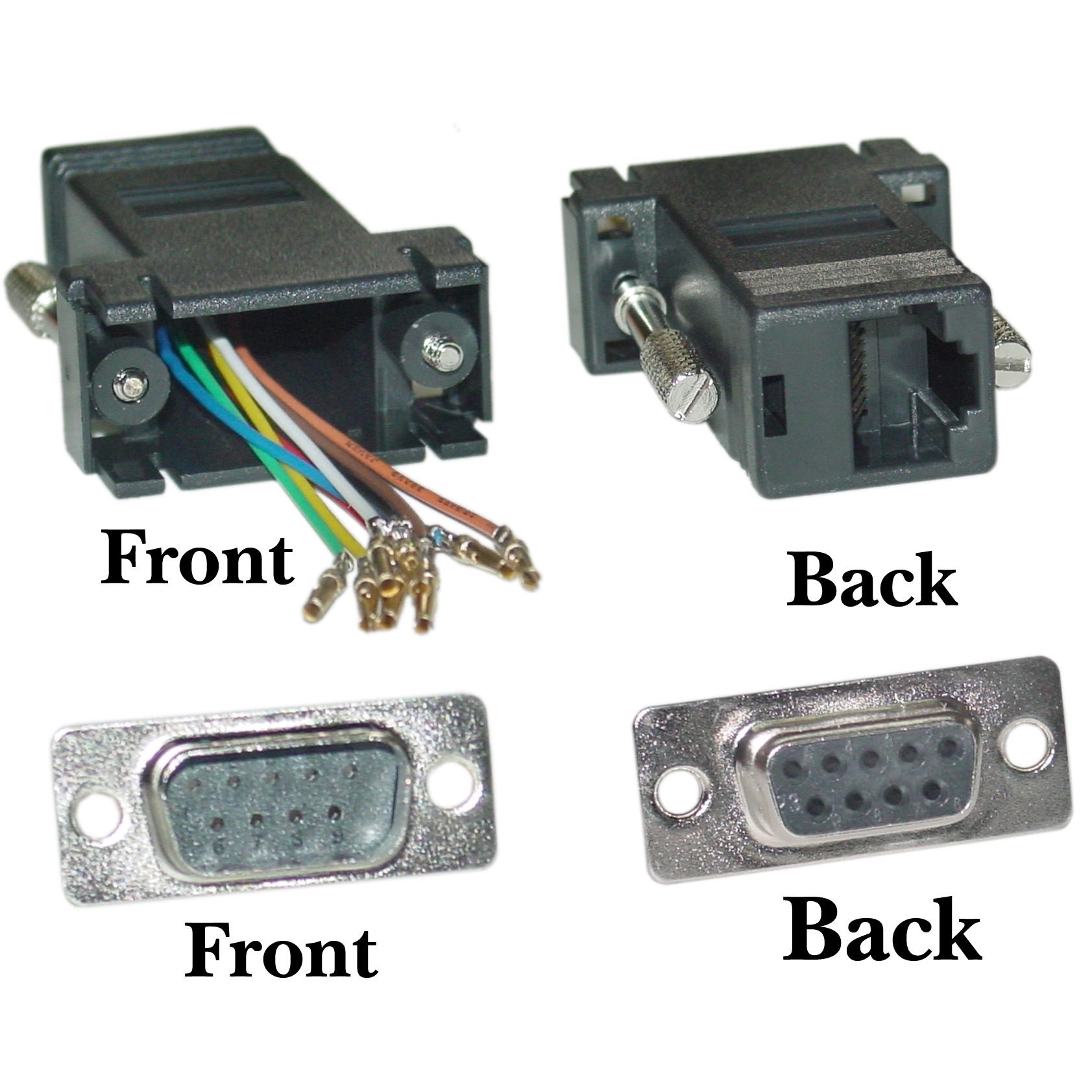 Modular Adapter Db9 Male To Rj45 Black