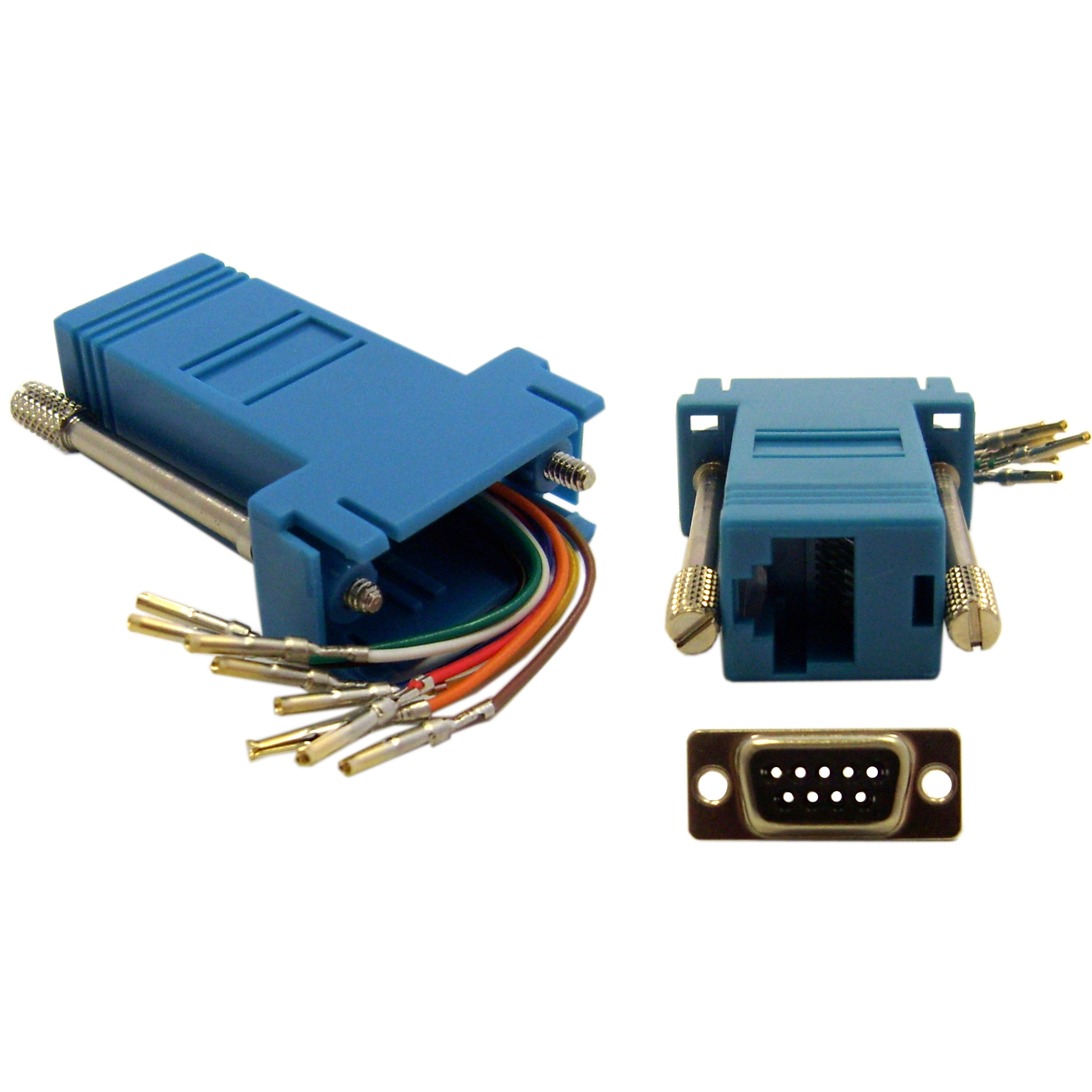 Modular Adapter Db9 Female To Rj45 Blue