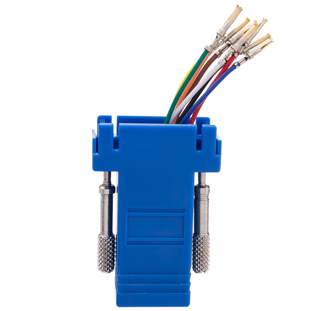 Modular Adapter Db9 Female To Rj45 Blue Ethernet Wiring Diagram Jack Part Number 31d1