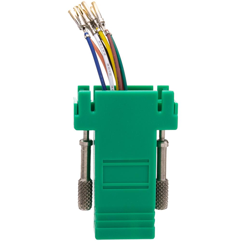 Db9 Female To Rj45 Female Modular Adapter Green