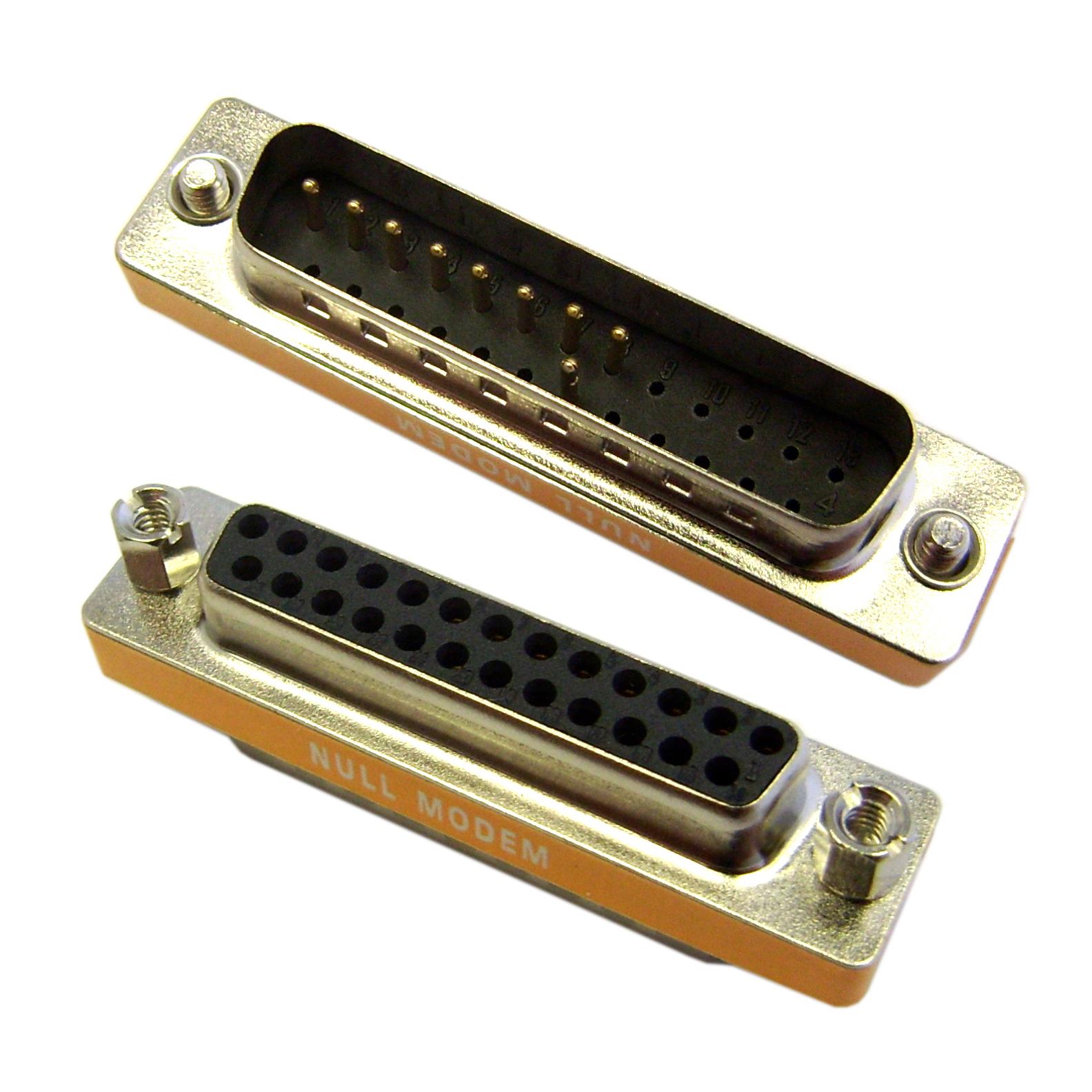 Db25 Male Db25 Female Mini Null Modem Adapter