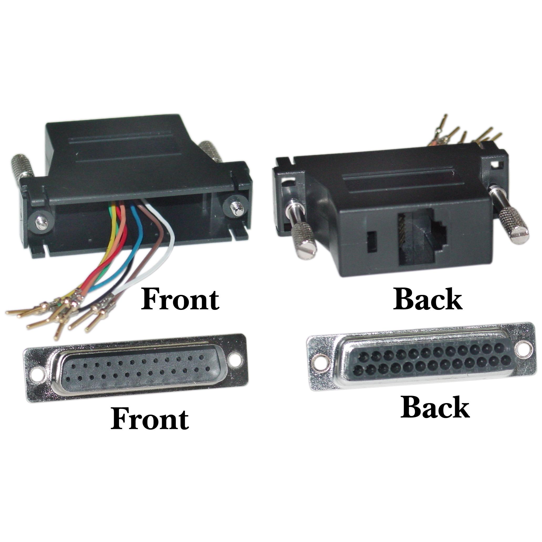 Db25 Male To Rj45 Female Modular Adapter