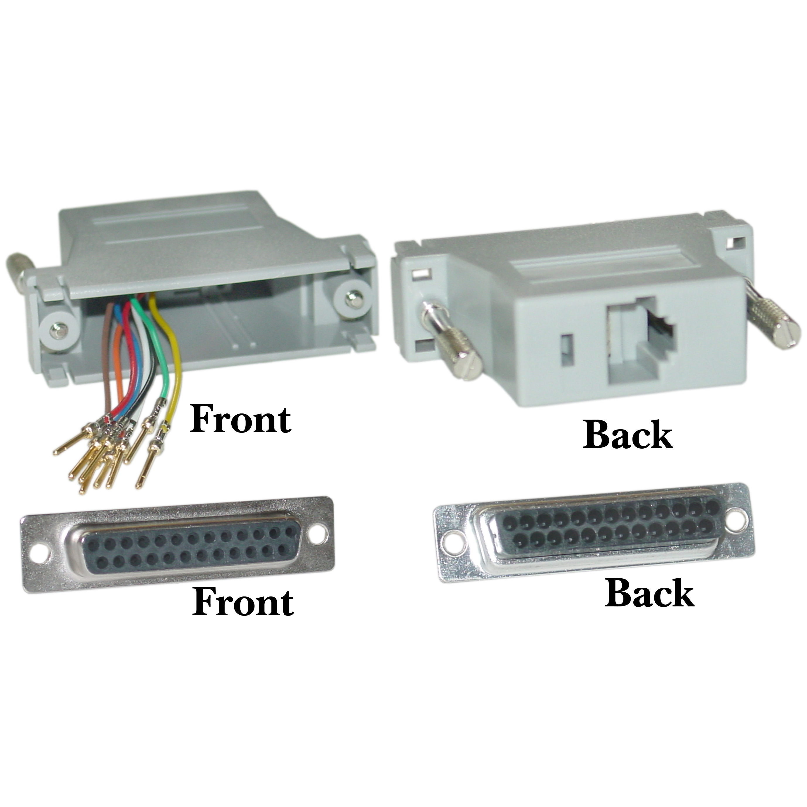 Modular Adapter, Gray, DB25 Female to RJ45 - Part Number: 31D3-37400