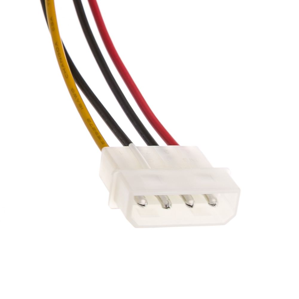 14 In Molex To Dual Sata Power Cable