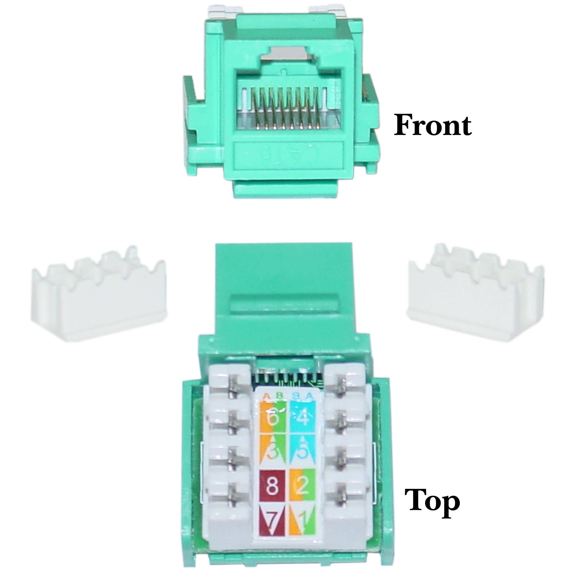 green cat6 keystone rj45 to 110 punch cablewholesale