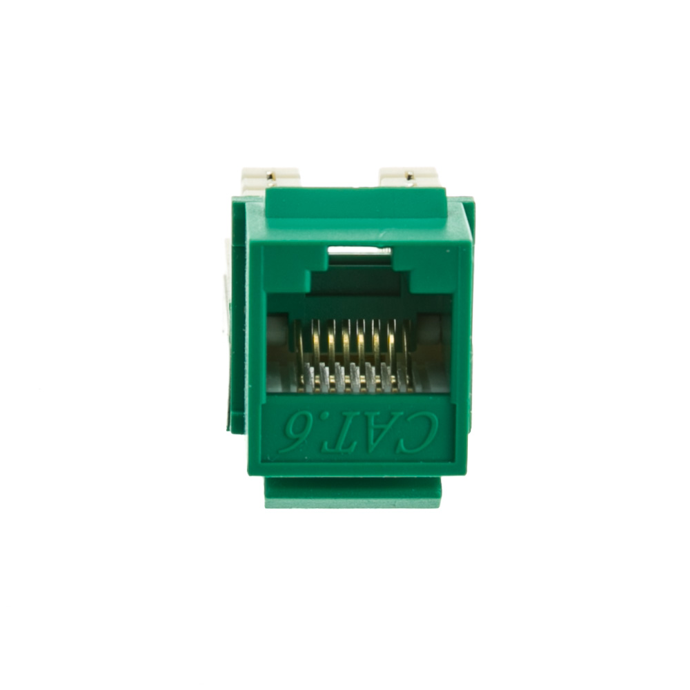 Green Cat6 Keystone Rj45 Female To 110 Punch Down Punchdown Block Wiring Diagram Jack Part Number