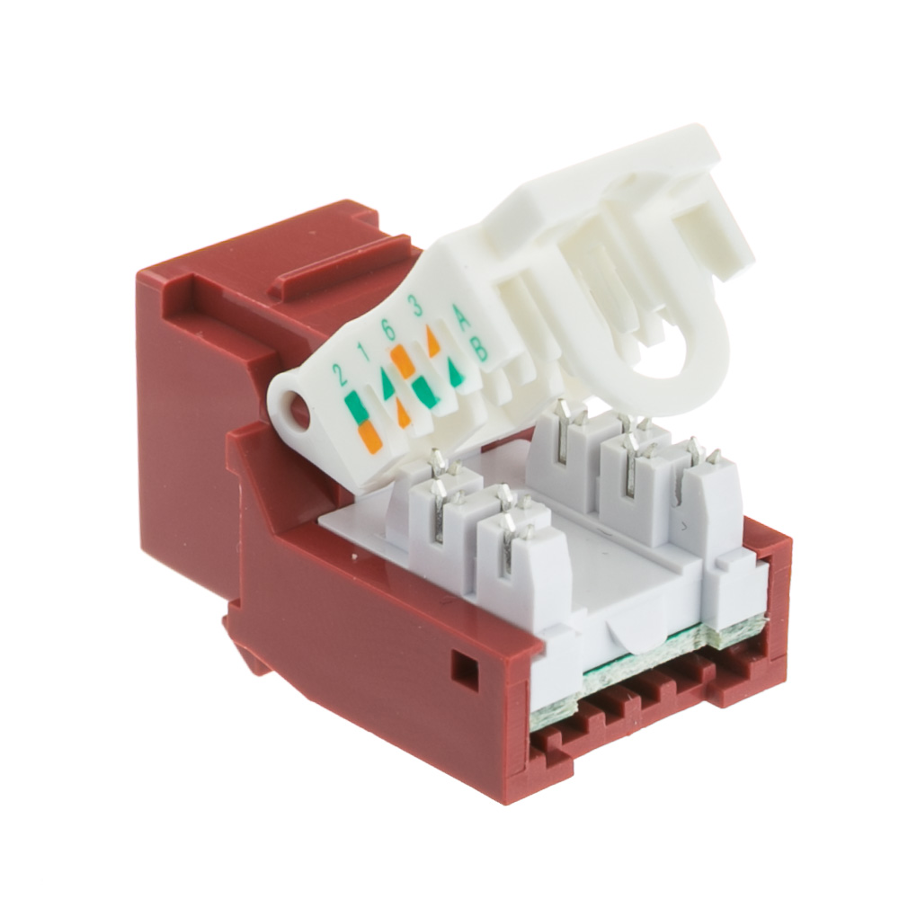 Cat6 Keystone Jack Red Toolless Rj45 Female