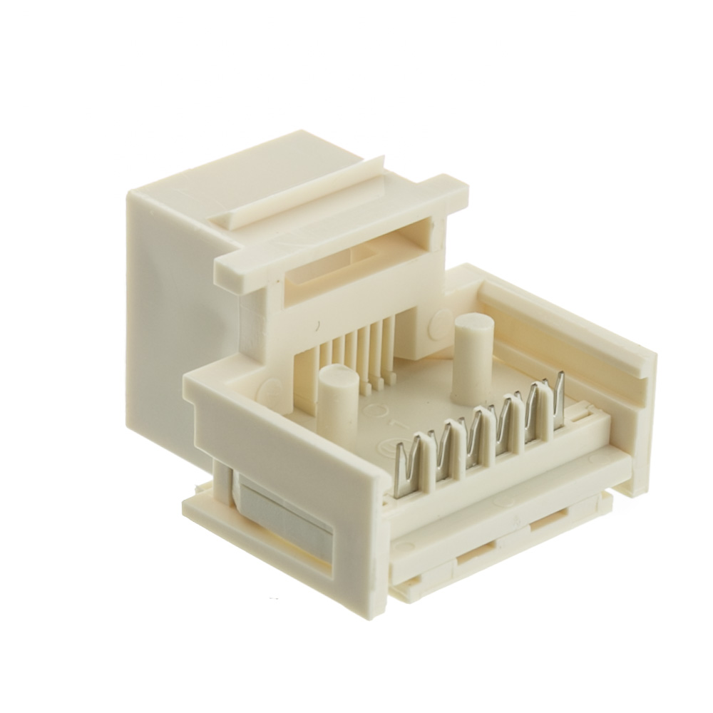white phone keystone rj11 rj12 to wire insert cablewholesale