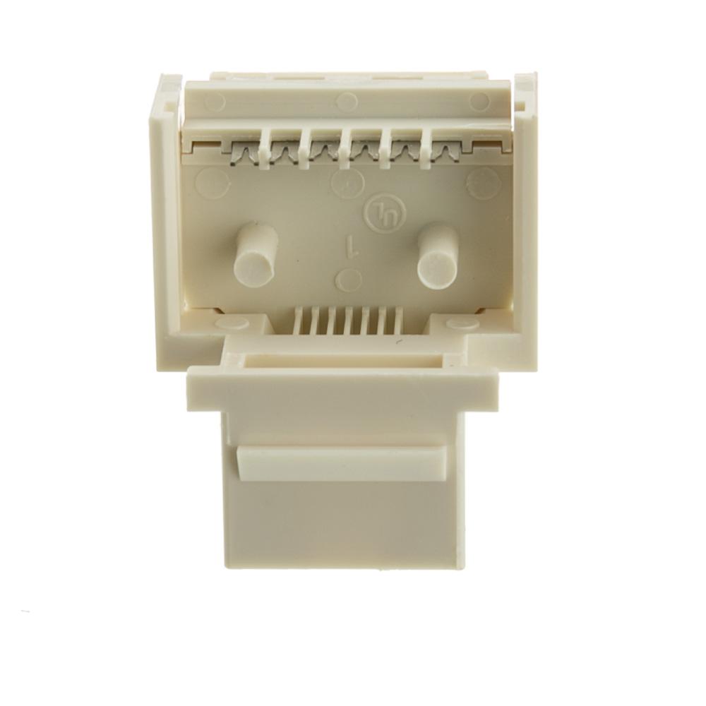 White Phone Jack Keystone, Rj11 Rj12 To Wire Insert Isdn Wiring Diagram RJ11 Pinout Cat5 6 Pin RJ11 Wiring-Diagram At IT-Energia.com