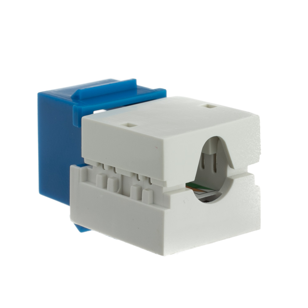 Blue Cat6a Keystone Rj45 Female To 110 Punch Down Diagram Jack Wiring Part Number