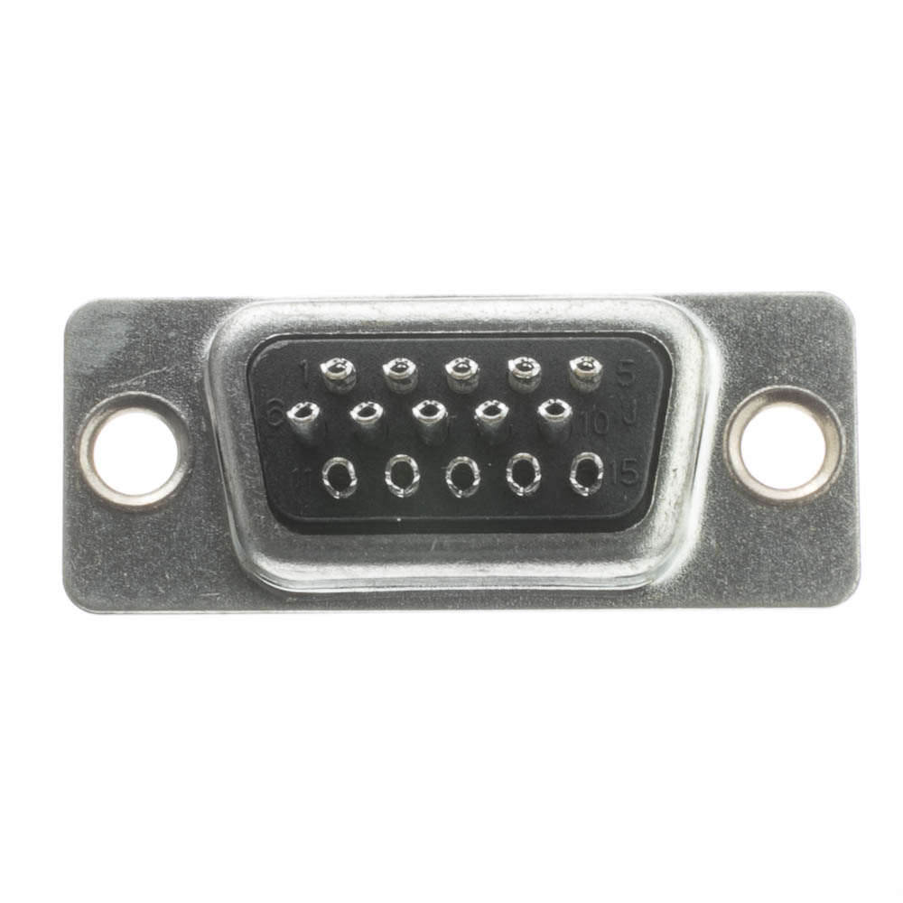 Hd15 Vga Female Connector Solder Type