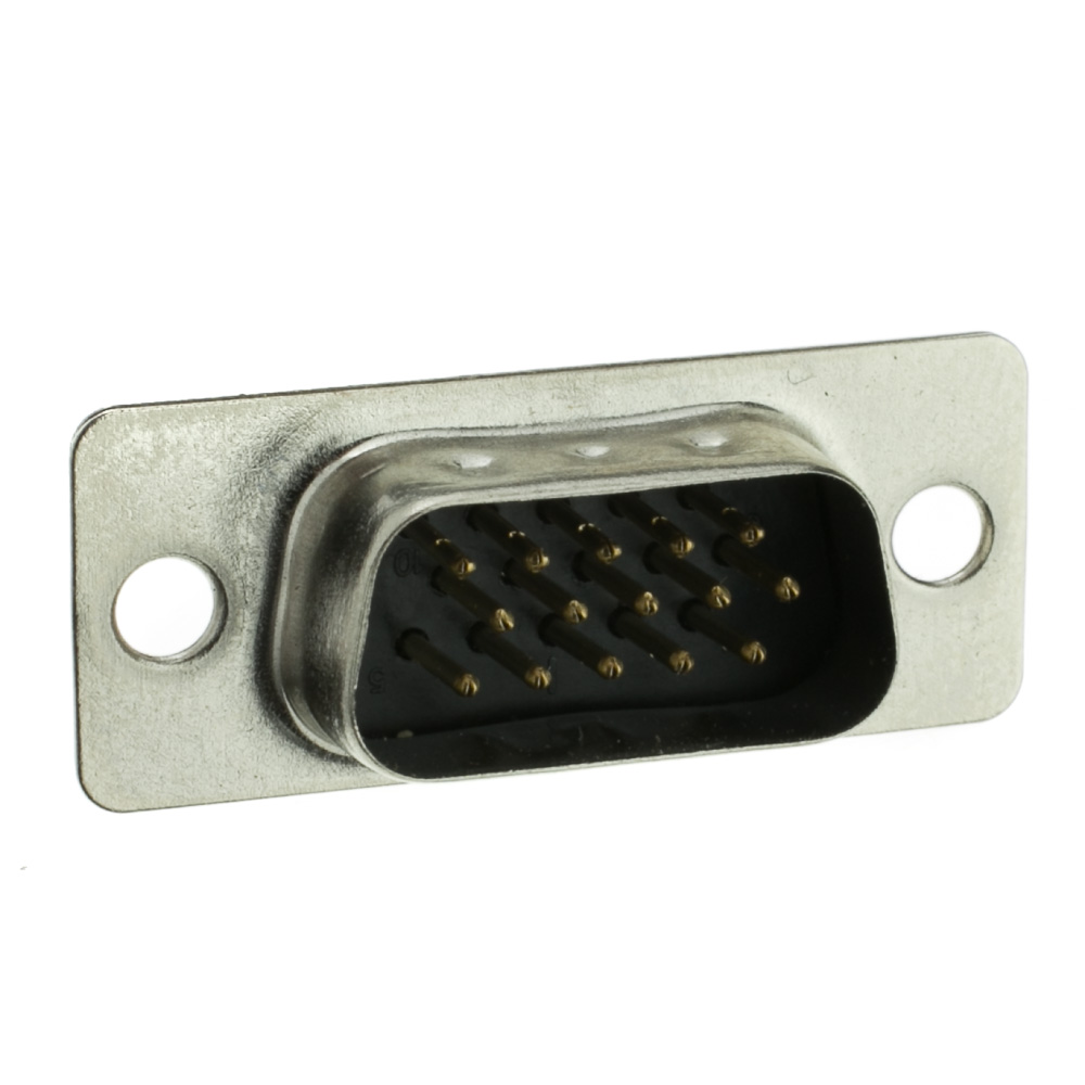 Hd15 Vga Male Connector Solder Type