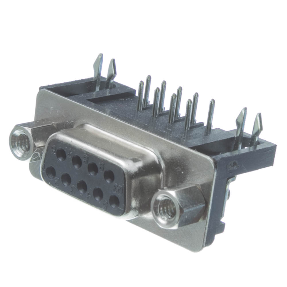 Db9  Right Angle Female Connector  Solder Type