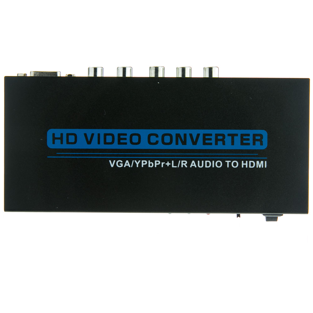 Vga Component Video Amp Rca Stereo Audio To Hdmi Converter