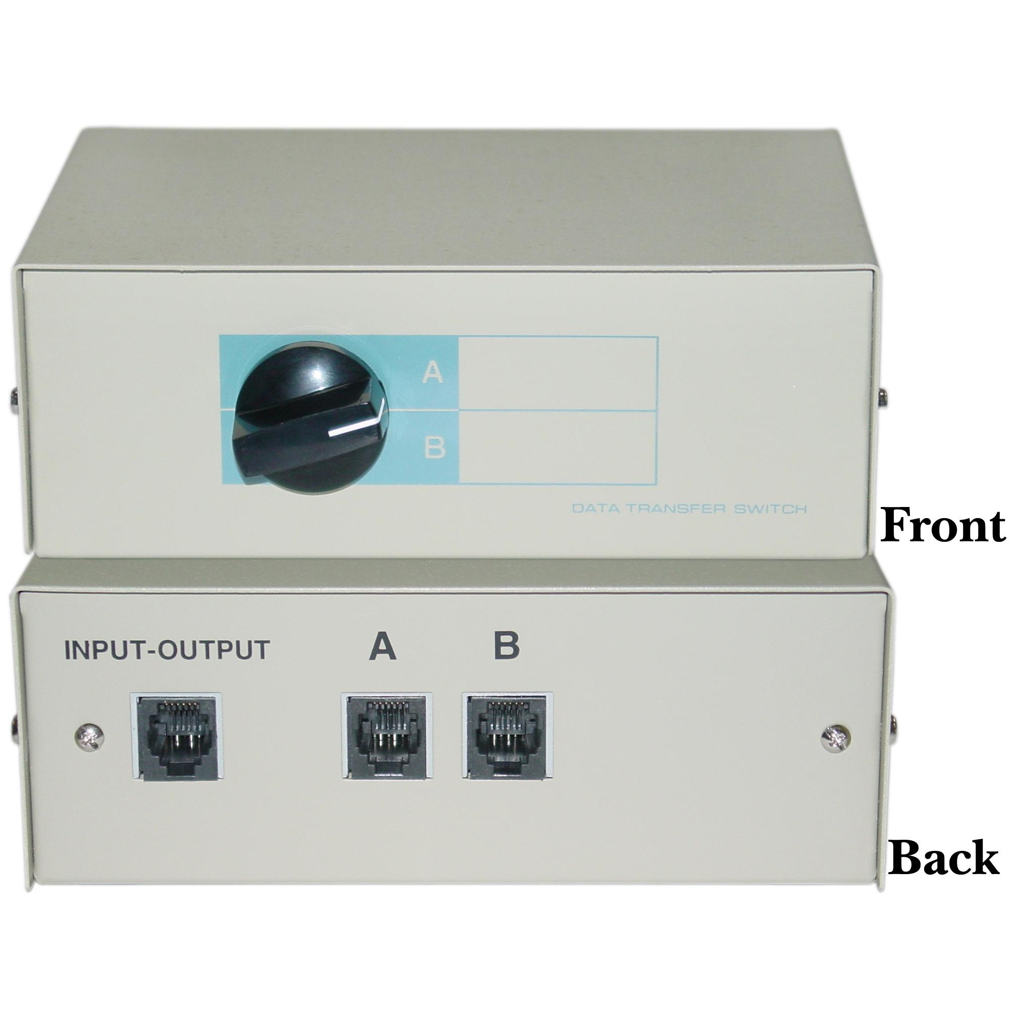 Rj11 Or Rj12 Manual Switch Box