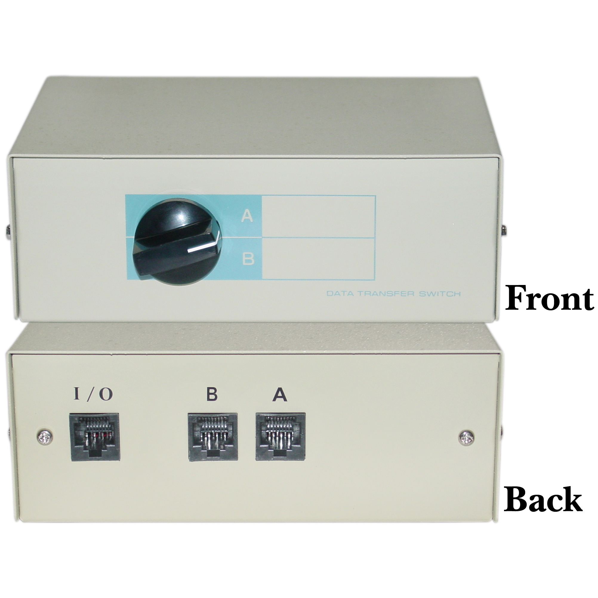 2 Way RJ45 Female Telephone Network Manual Switch Box, AB