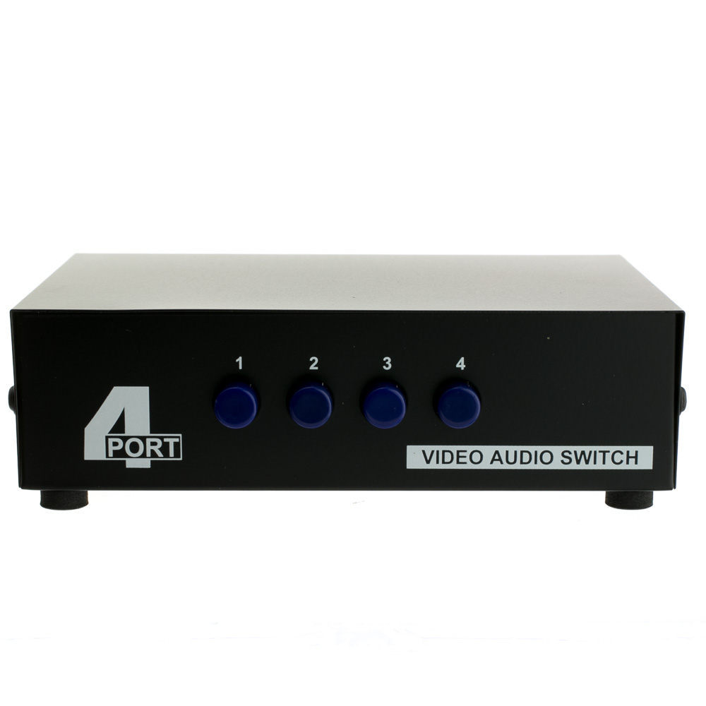 audio video rca selector switch 4 way output 3 rca composite video and
