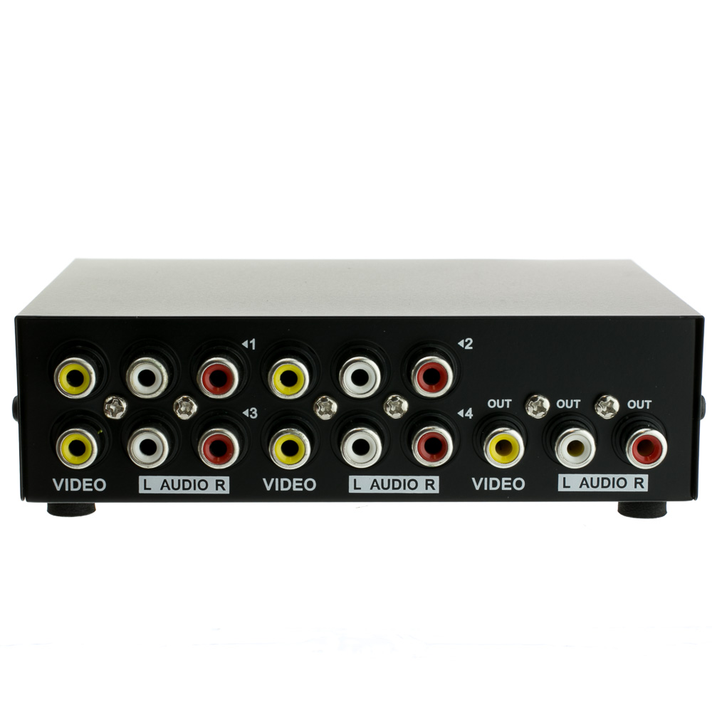 4 Way Audio Video Rca Selector Switch 4 In 1 Out