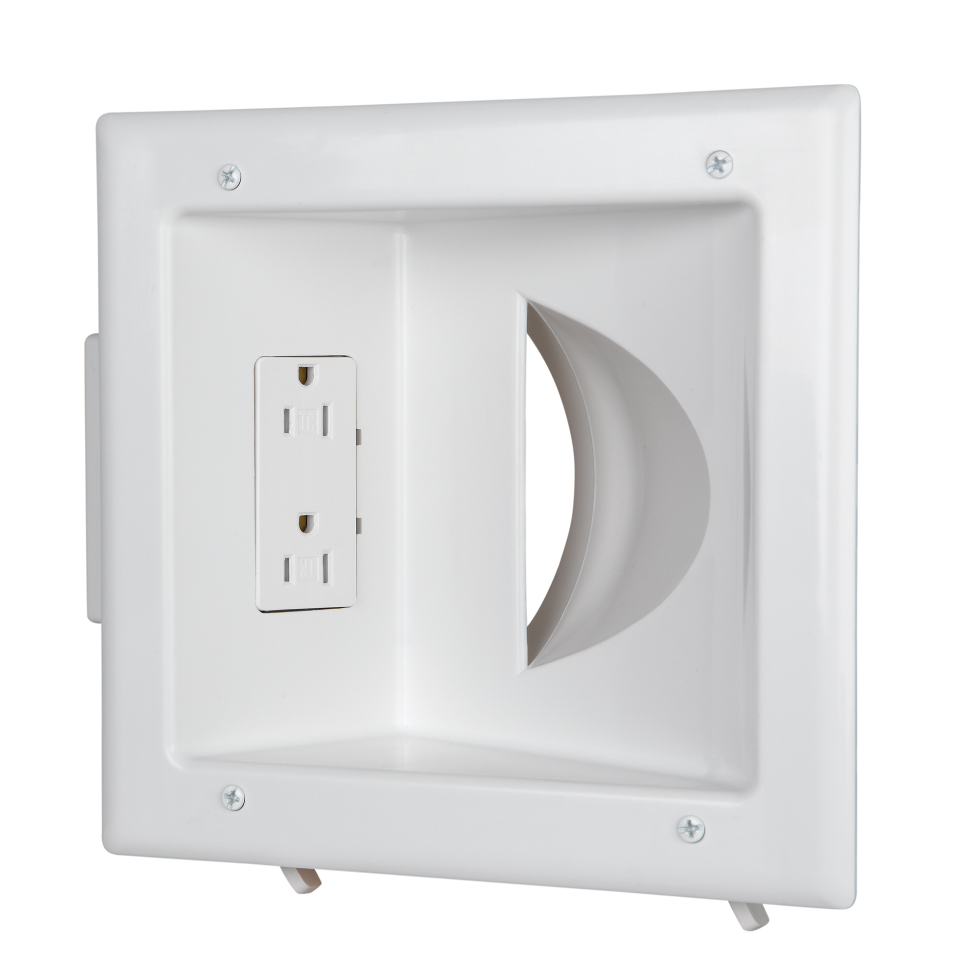 Home Depot Recessed Low Voltage Cable : Recessed low voltage media plate receptacle white