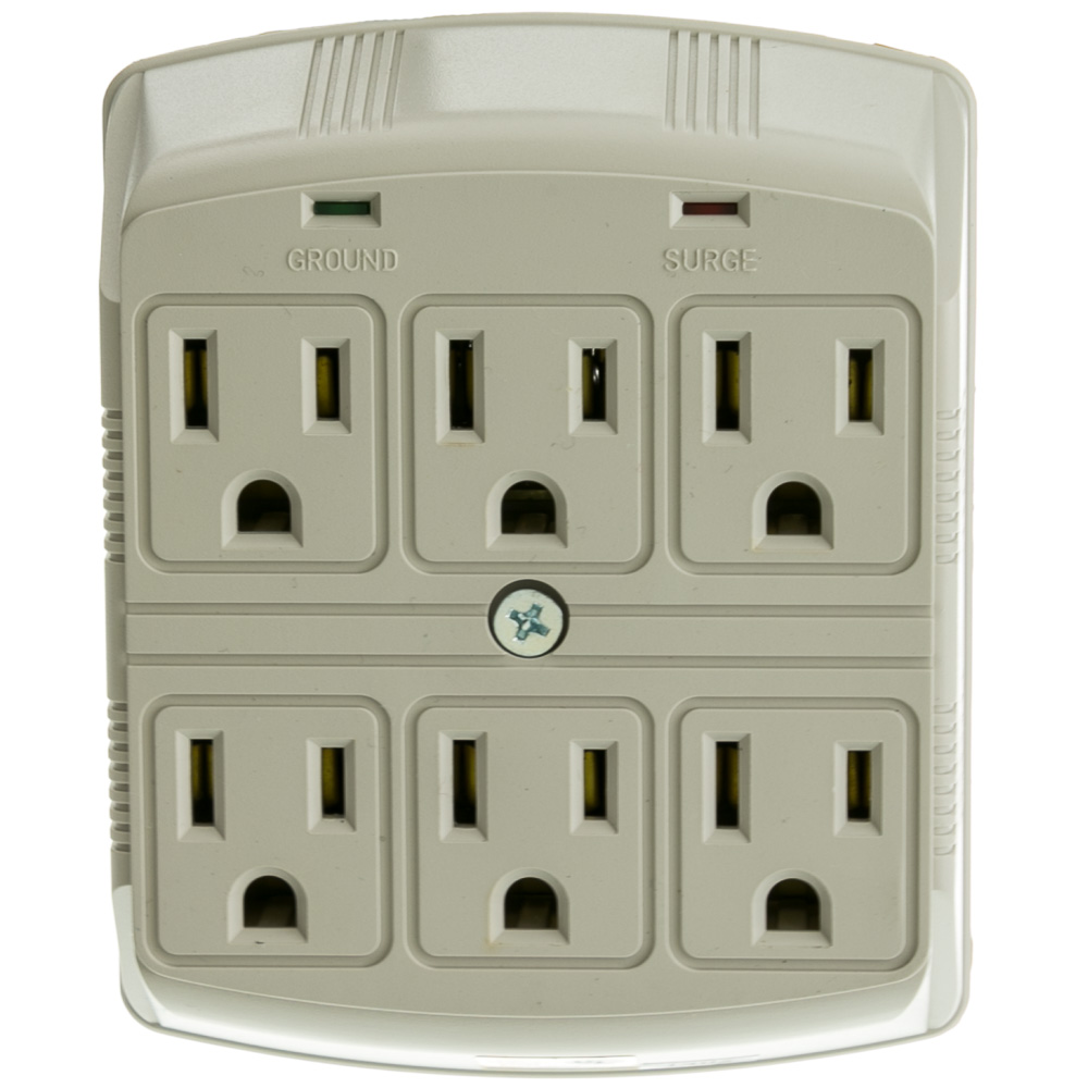 6 Outlet Surge Protector Wall Tap 3 Mov 270 Joules