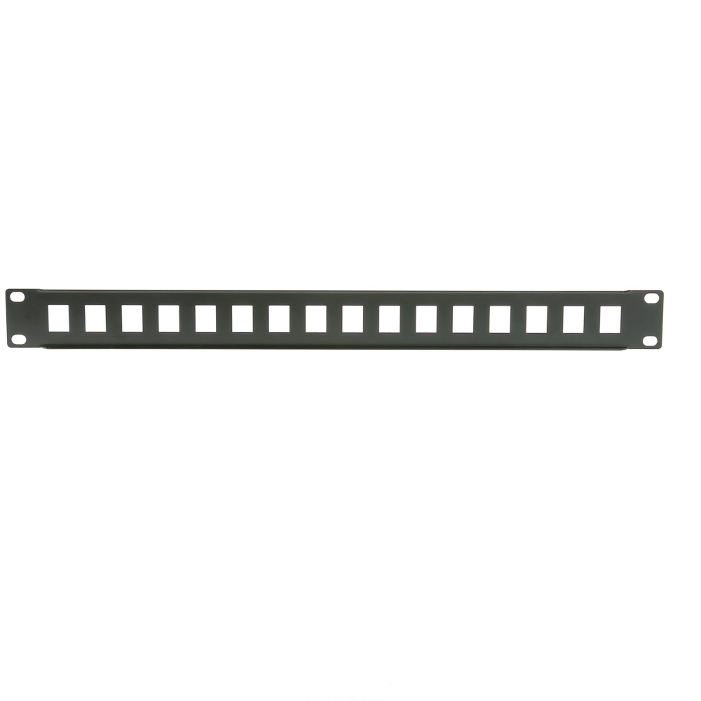 1u Rackmount 16 Port Blank Keystone Patch Panel 19 Inch Wiring Diagram Part Number 68pb 01016