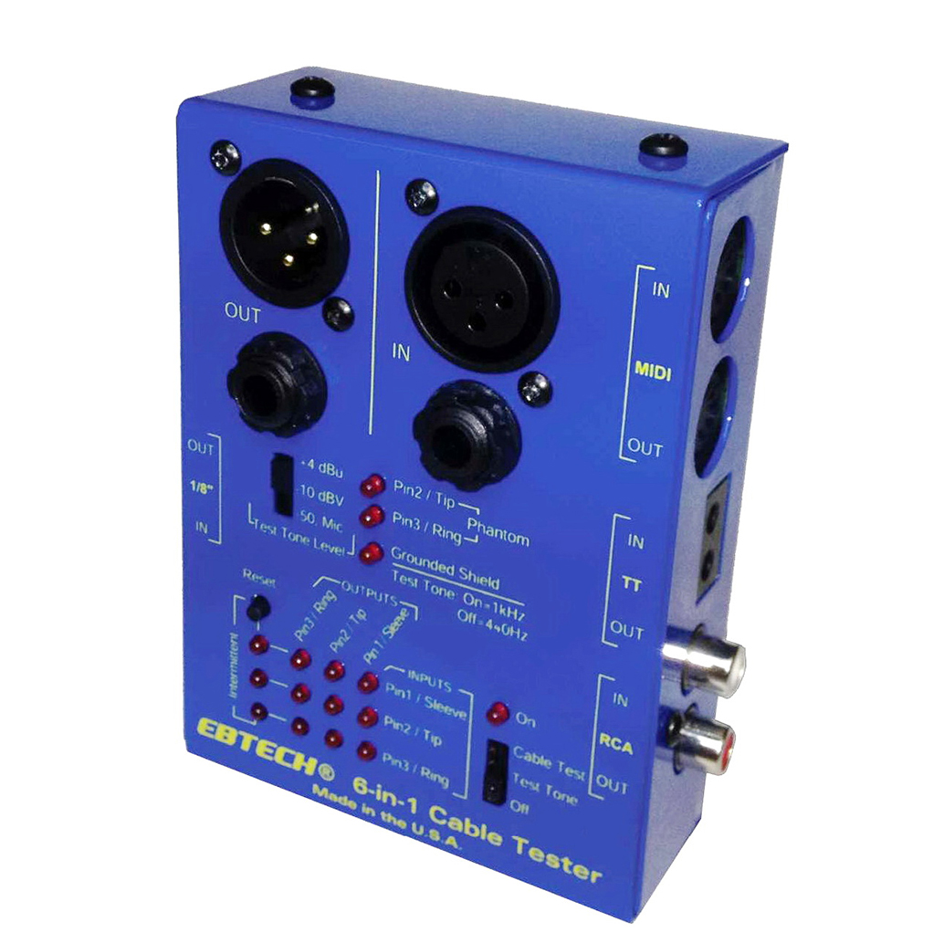 Audio Cord Tester : Ebtech swizz army in audio cable tester