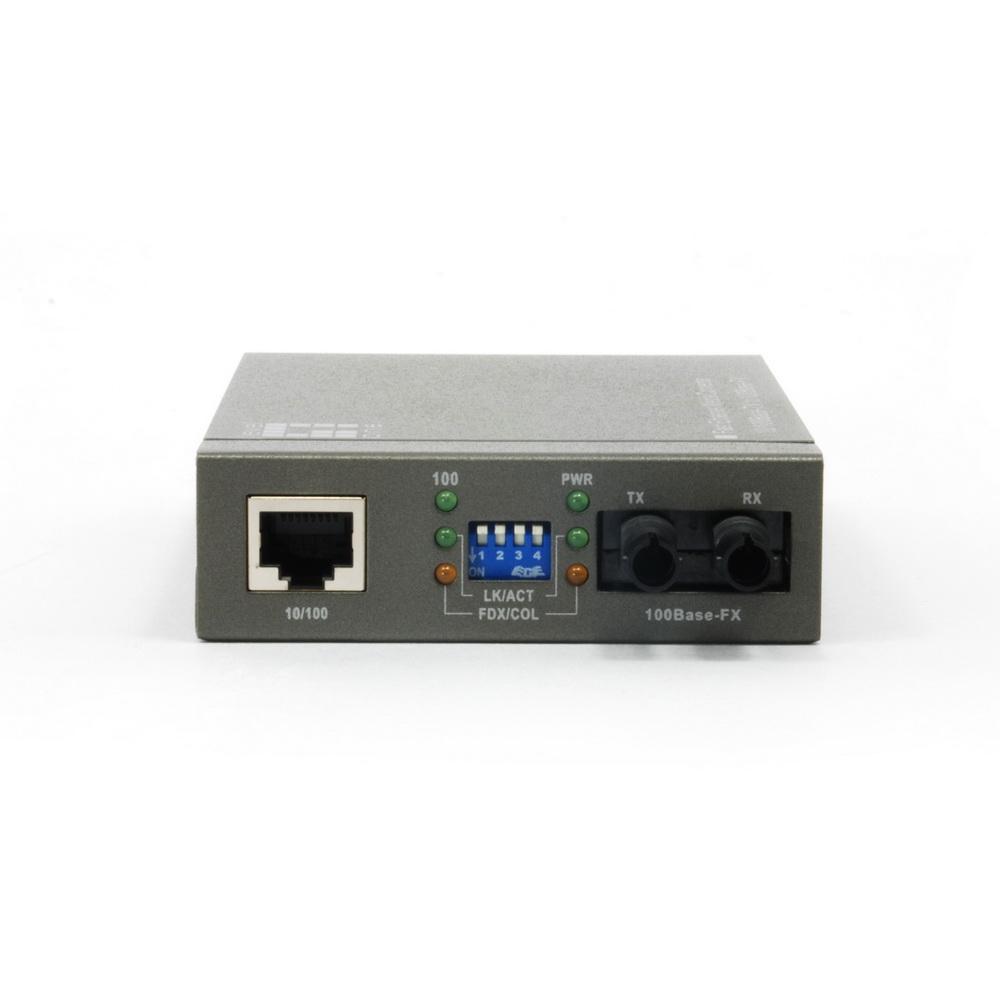ethernet to multimode fiber optic converter rj45 to fiber st. Black Bedroom Furniture Sets. Home Design Ideas