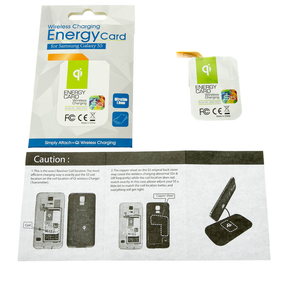 Qi Wireless Charging Energy Card - Samsung Galaxy S5
