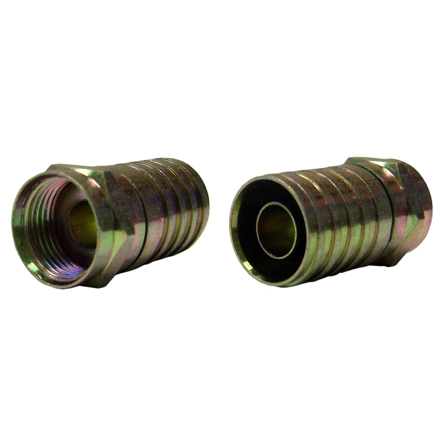 Rg quad connector crimp type