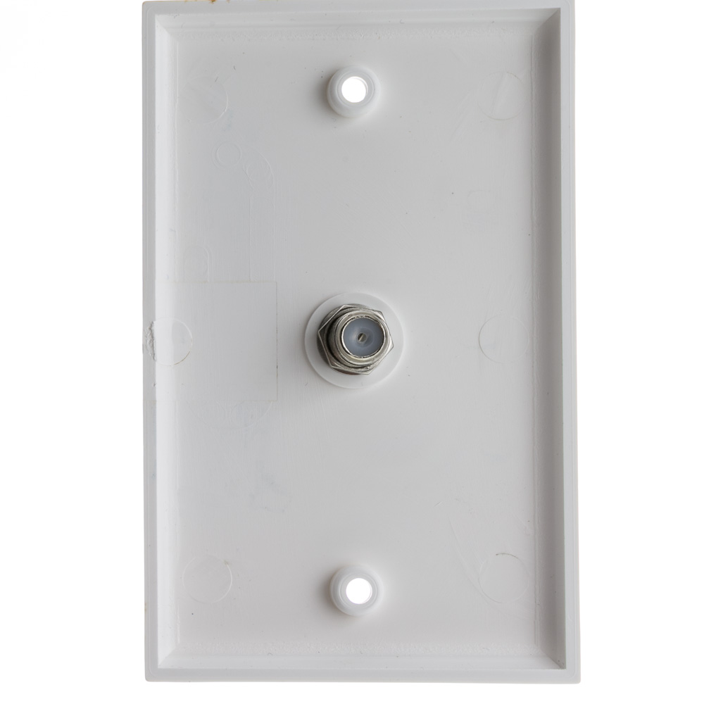 White Tv Wall Plate F Pin Coupler