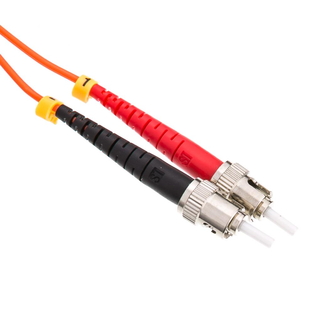 Lc St Multimode Duplex Fiber Optic Cable 50 125 3 Meter