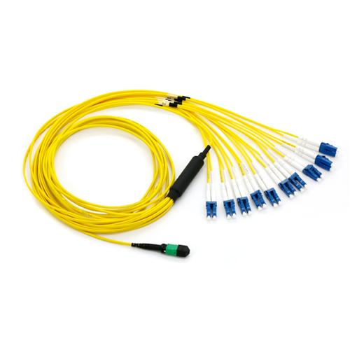 3m Plenum Mtp Mpo Lc Fiber Optic Breakout Cable 100gb