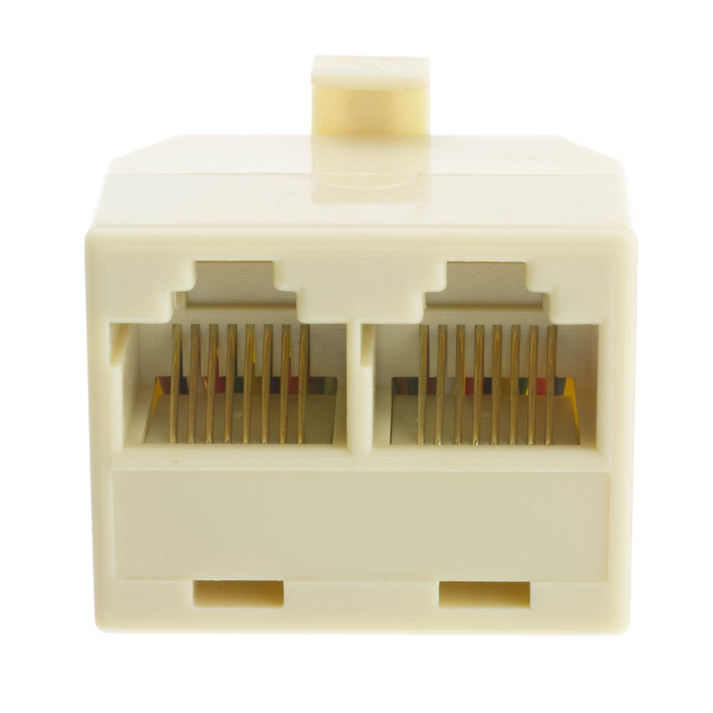 Telephone Splitter Straight Rj45 8p8c Male To Dual Female Ethernet Cable Cat 5 Wiring Diagram Phone 2 Part