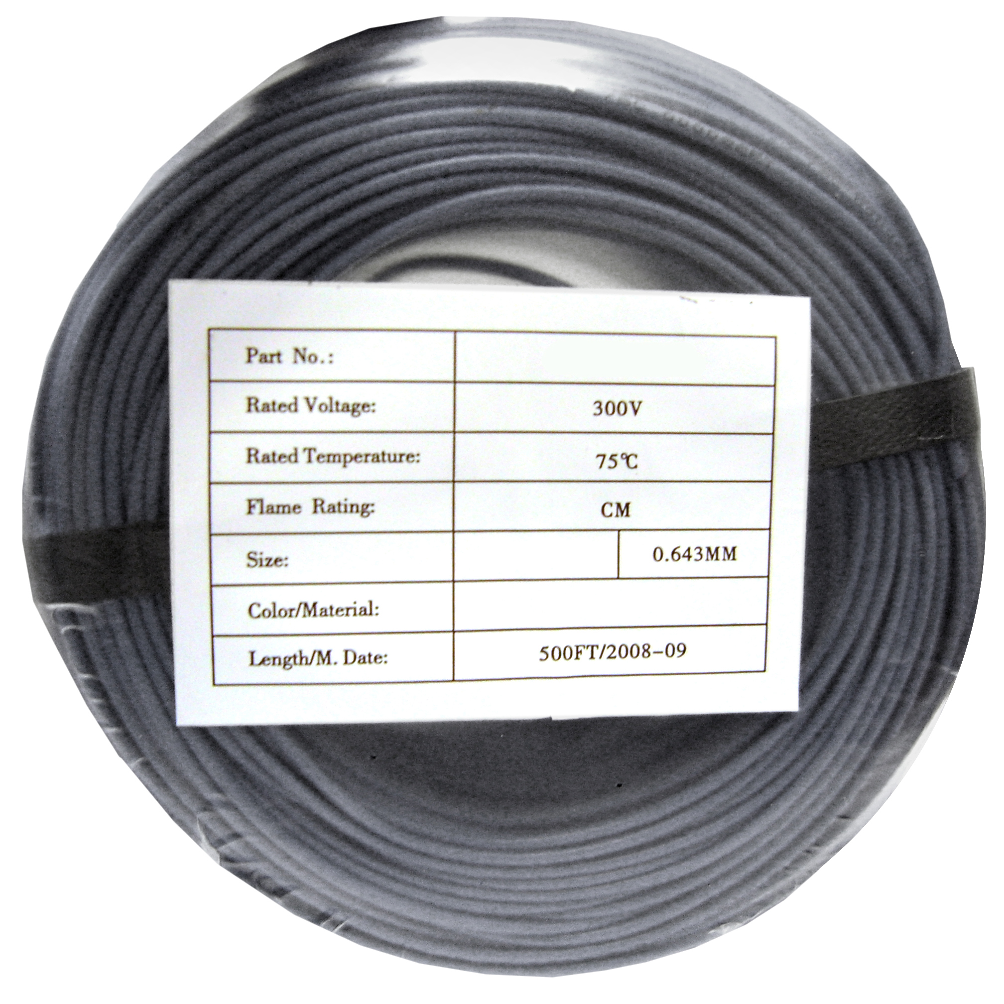 500ft - 22/2 Solid Security Cable, CMR, Gray - CoilPack