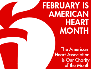 Our February charity is the American Heart Association. - Opens in new window