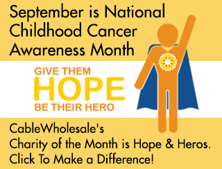 Our September charity is Hope & Heros - fund life-saving work on childhood cancer and blood disorders at Columbia University Medical Center.