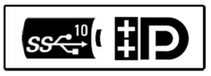 DisplayPort over USB-C with chargeback logo