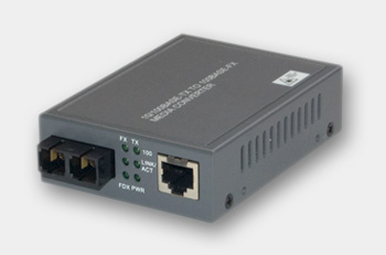 RJ45 (100Base-TX) / Multi-mode SC Fiber (100Base-FX) Media Converter