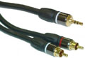 Premium Grade 3.5mm to 2RCA Cable