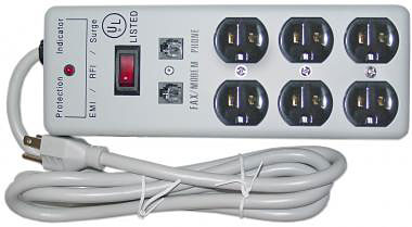 6-Outlet Protector with Fax/Phone Protection