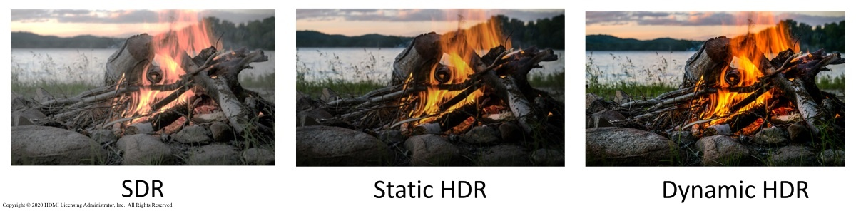 HDMI SDR and HDR comparison.