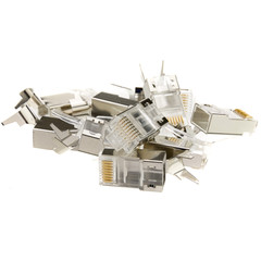 Platinum Tools RJ45 Cat6A 10 Gig Shielded Connector, w/Liner, 8P8C, 100 Pieces - Part Number: 106190