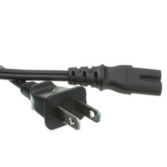 Notebook/Laptop Power Cord, NEMA 1-15P to C7, Non-Polarized, 6 ft - Part Number: 10W1-13206