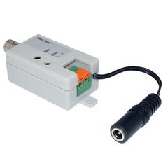 Active Video Balun, Female BNC Connector to Bare Wire Terminals, Monitor/DVR Side - Part Number: 10B1-01310