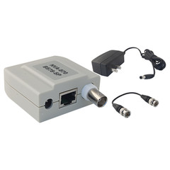 Passive Video Balun, Female BNC Connector, Power on 3 Pairs, Monitor Side - Part Number: 10B1-01340