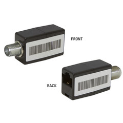 Passive Video Balun F-pin Female to RJ45 female, Camera and Monitor Side - Part Number: 10B1-03300