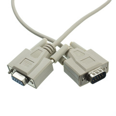 Null Modem Cable, DB9 Male to DB9 Female, UL rated, 8 Conductor, 25 foot - Part Number: 10D1-20225