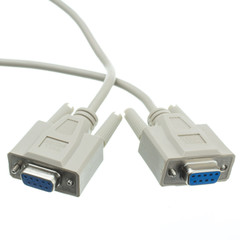 Null Modem Cable, DB9 Female, UL rated, 8 Conductor, 6 foot - Part Number: 10D1-20406